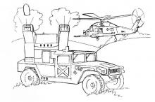 Военные раскраски машина