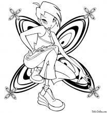 Раскраска Текна бабочка