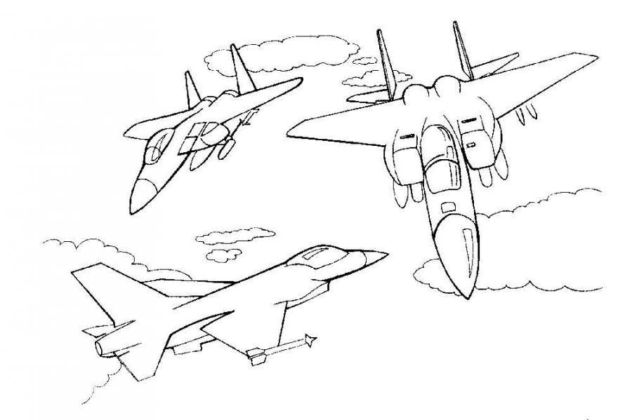 Военные раскраски самолеты | РАСКРАСКУ .РФ - распечатать и ...